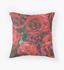 Fire Roses Throw Pillow
