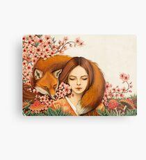 Red Fox Totem. Metal Print