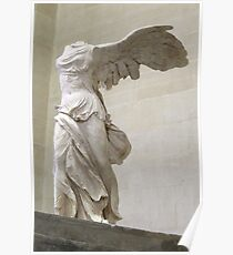 Winged Nike of Samothrace Louvre Poster