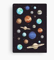 Retro Planet Design Canvas Print