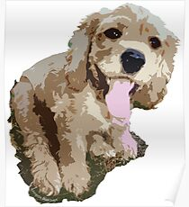 Spaniel Pup Graphic Poster