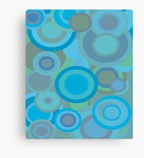 1970s Circles in Turquoise Canvas Print