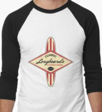 Classic Longboards Custom Surfboards Men's Baseball ¾ T-Shirt