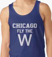 Chicago Fly The W Baseball Flag T Shirt Tank Top
