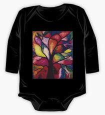 Stained Glass Tree One Piece - Long Sleeve