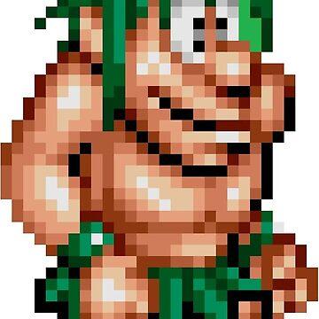 Joe & Mac : Caveman Ninja - Joe Sprite by Chadyoxy