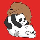 Sleeping Bear Cubs - Red by pondlifeforme