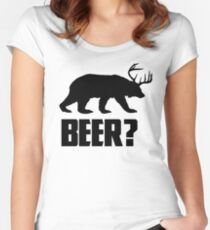 Beer, Bear? Women's Fitted Scoop T-Shirt