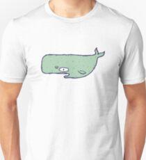 Cute sketchy cartoon blue whale Unisex T-Shirt