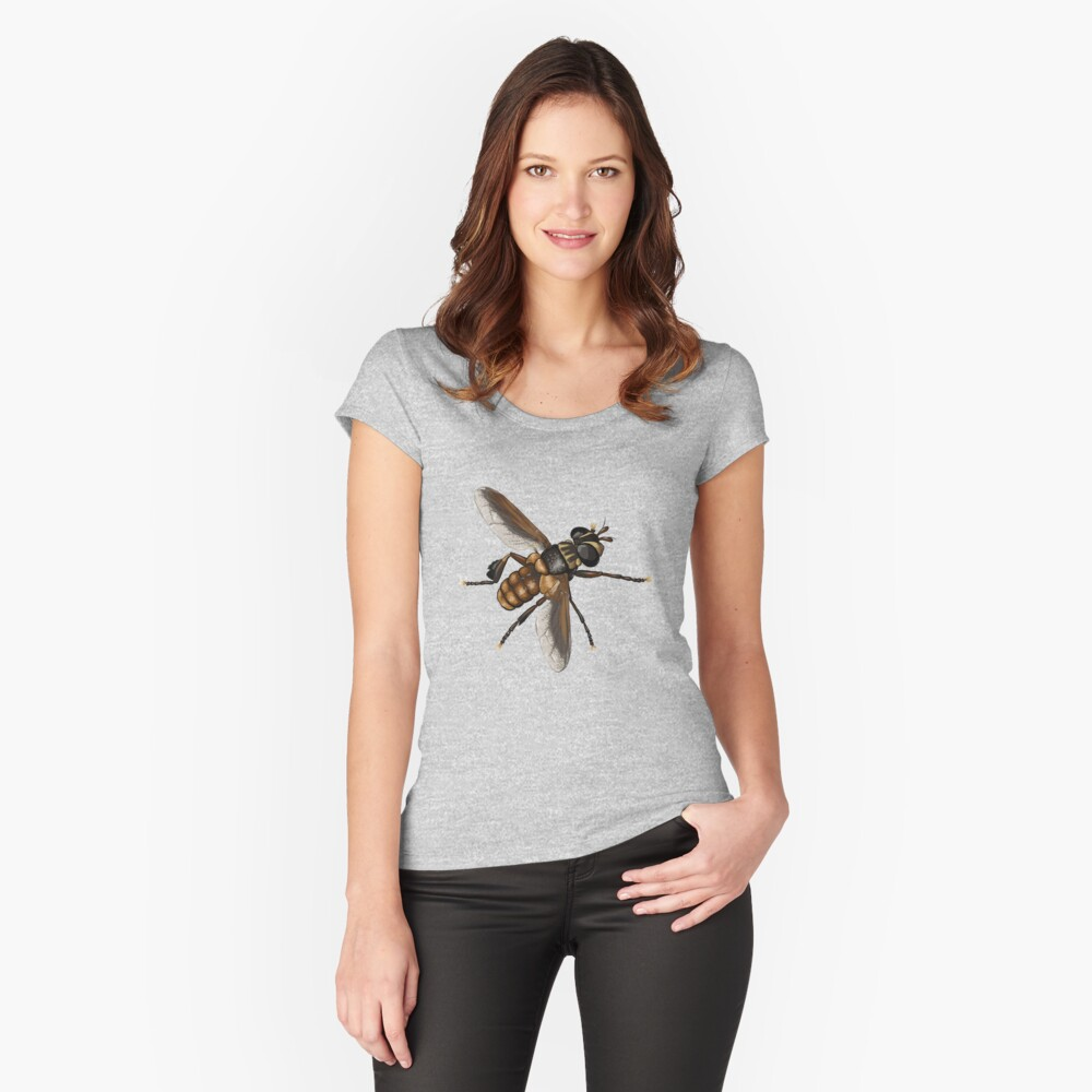 Feather-legged fly - Trichopoda subdivisa Fitted Scoop T-Shirt