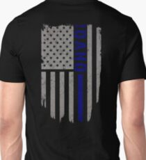 Idaho Thin Blue Line American Flag T-shirt T-Shirt