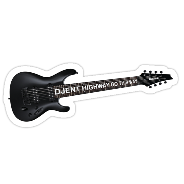 djent 8 strings stickers by masubian redbubble