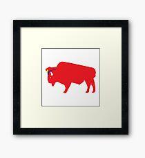 M. Bison Framed Print