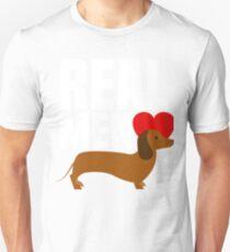 Real Men Love Wiener - Heart Dachshund Puppy Dog Unisex T-Shirt
