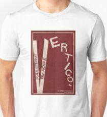 Vertigo - Poster minimalista, Alfred Hitchcock - James Stewart, Kim Novak, póster de pelicula, cartel retro, ilustración Camiseta unisex