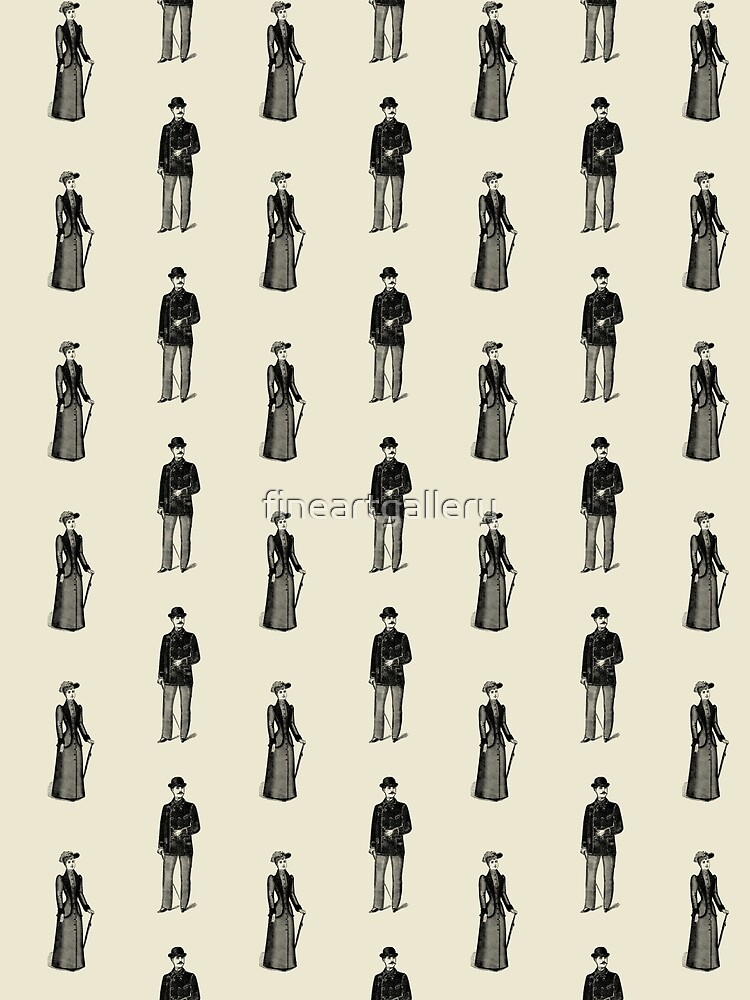 Vintage Lady And Gentleman Pattern by fineartgallery