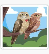 Bornean Birds - BORNEAN FROGMOUTH Sticker