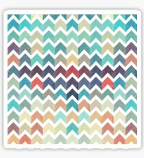 Watercolor Chevron Pattern Sticker