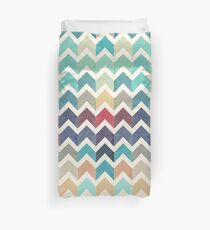 Watercolor Chevron Pattern Duvet Cover