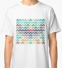Watercolor Chevron Pattern Classic T-Shirt