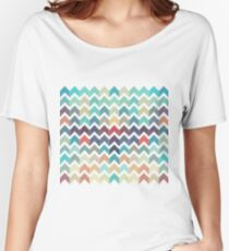 Watercolor Chevron Pattern Women's Relaxed Fit T-Shirt