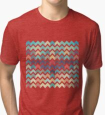 Watercolor Chevron Pattern Tri-blend T-Shirt