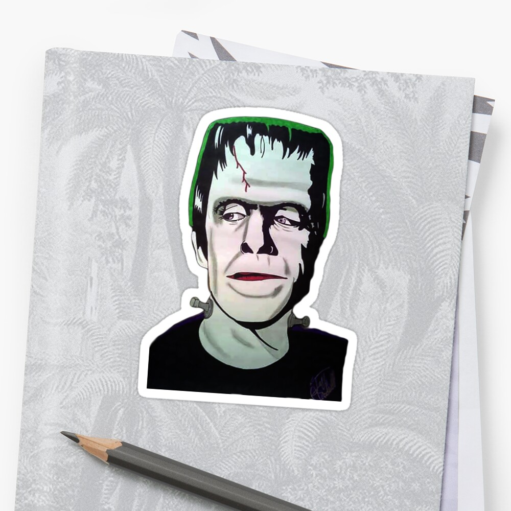 Quot Herman Munster Quot Stickers By Jeffchadwell Redbubble