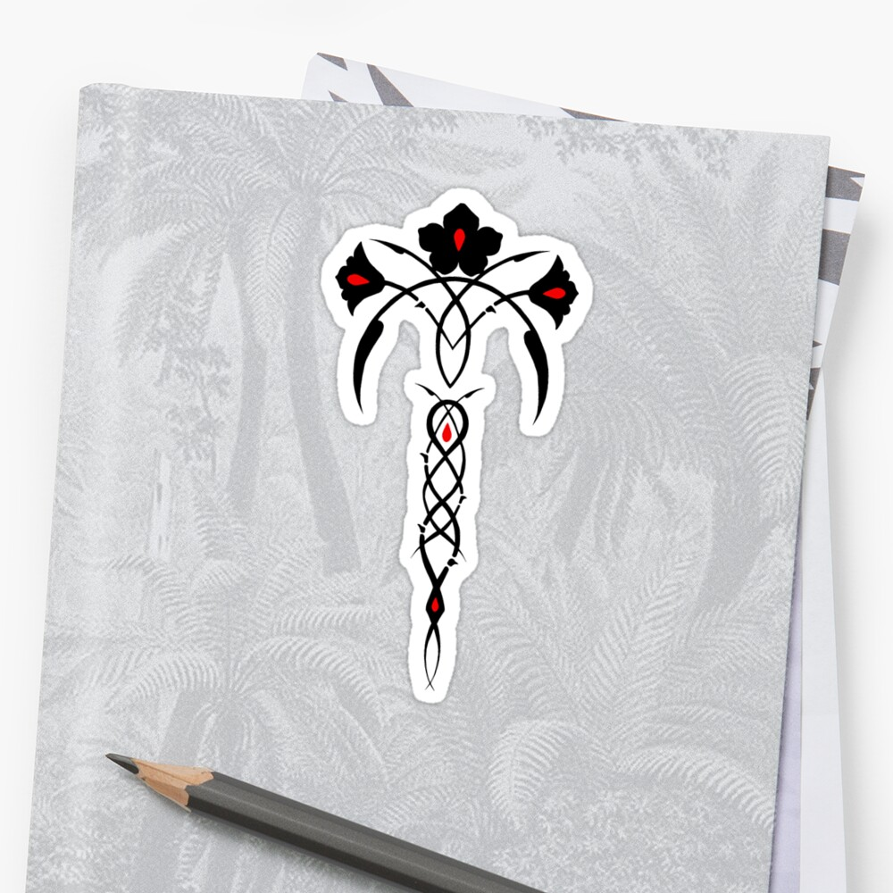 Phedre S Marque Tribal Rose Design Stickers By Angelasasser Redbubble