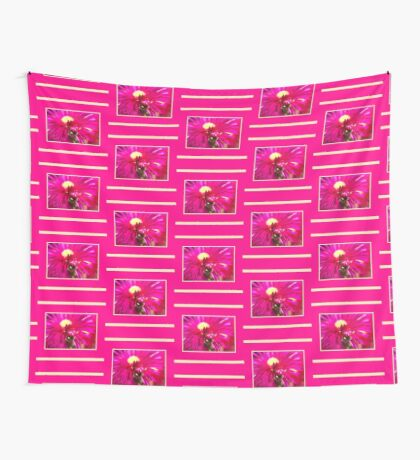 Hot Pink Ice Plant/Pigface Flower Wall Tapestry