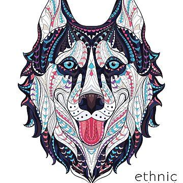 Husky - Ethnic Style by coolstuffofaz