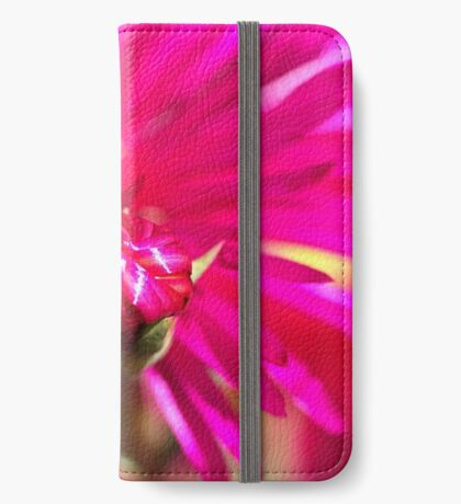 Hot Pink Ice Plant/Pigface Flower iPhone Wallet