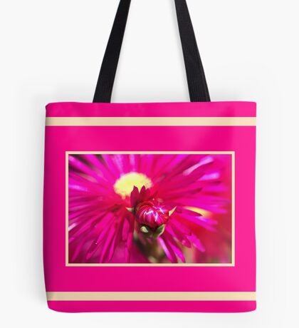 Hot Pink Ice Plant/Pigface Flower Tote Bag