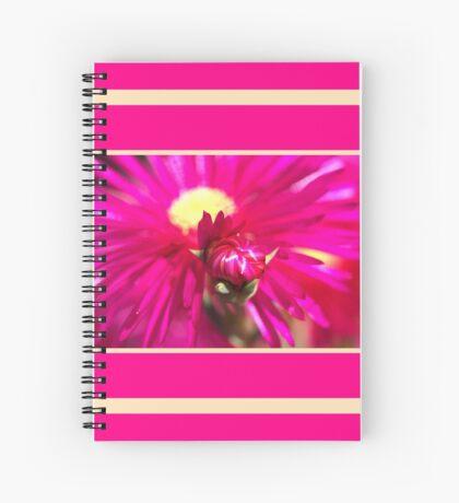 Hot Pink Ice Plant/Pigface Flower Spiral Notebook