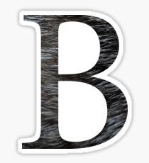 Beta-Black Textured Sticker