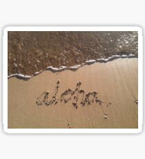 Wave Aloha Sticker