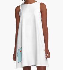 Oxford Mississippi Heart A-Line Dress