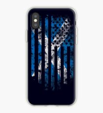 Schottland und Amerika Flagge Combo Distressed Design iPhone-Hülle & Cover