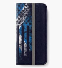 Scotland and America Flag Combo Distressed Design iPhone Wallet/Case/Skin