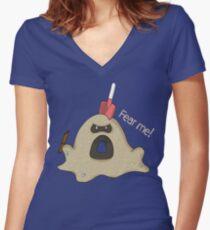 Sandygast Women's Fitted V-Neck T-Shirt