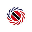 Trinidadian American Multinational Patriot Flag Series by Carbon-Fibre Media