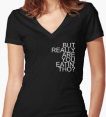 CHILDISH GAMBINO Women's Fitted V-Neck T-Shirt