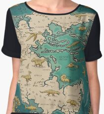 map of the supercontinent Pangaea Chiffon Top