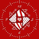 Valentine 4 Square Quilt Block by 2HivelysArt