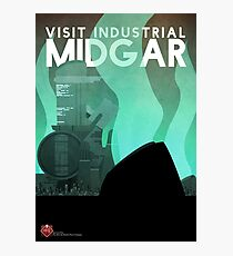 Midgar Travel Poster Photographic Print