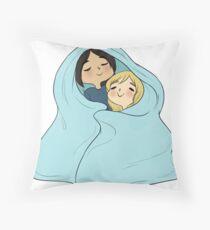 yumikuri cuddles [SnK] Throw Pillow