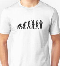 Camiseta unisex Evolution Acordeón jugador