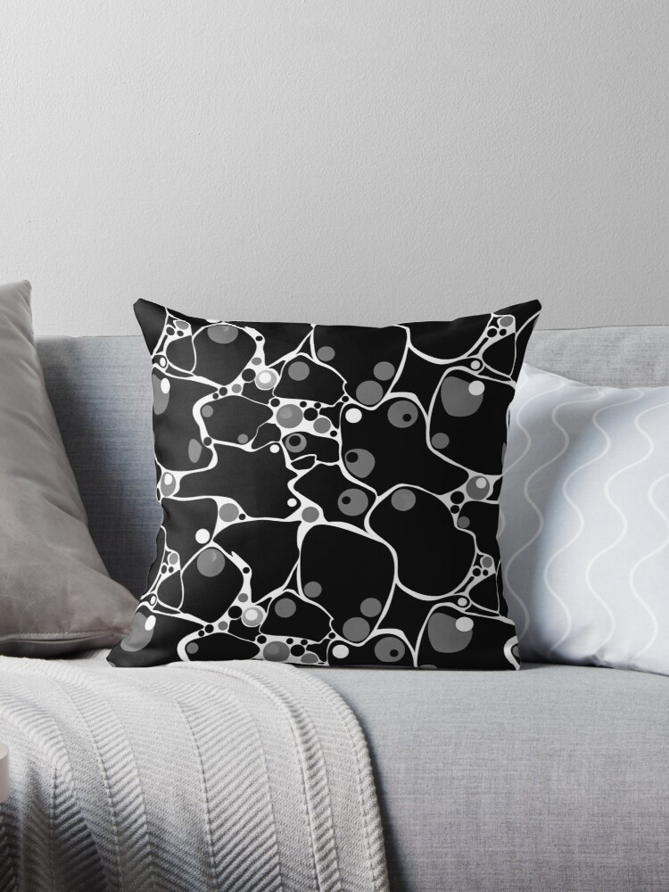 Quot Abstract Black And White Polka Dot Pattern Quot Throw