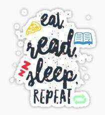 eat read sleep Sticker