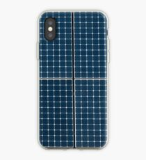 Solar panelling on a house. iPhone Case