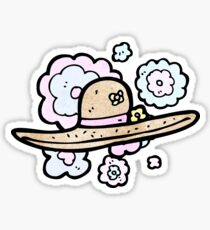 summer hat cartoon Sticker